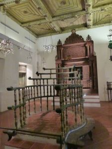 A reconstructed synagogue from Cochin, India, is within the Israel Museum.