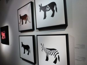 The humble donkey was the theme of one exhibit.