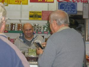 Danny is getting his favorite olives from a favorite Arab shop.