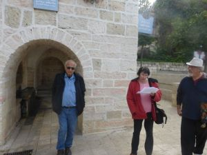 Danny, Ruth, & Barry.  Our friends were showing us around important religious sites.