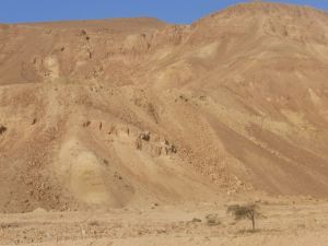 Hill after hill of sand and rock near Lotan in the very southern part of Israel.