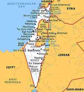 Binyamina is north of Tel Aviv and south of Haifa.  We started in Eilat at the very south of Israel.