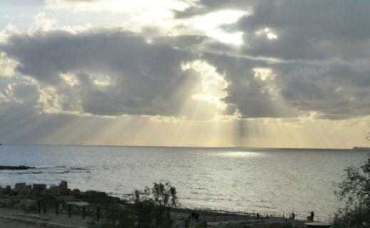 Caesarea sunset.