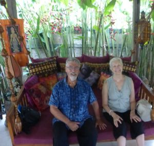 Barry and Chris at Naya - they came willingly to the Kundalini event :)
