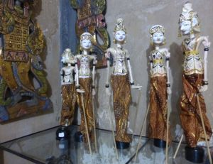 Traditional carved puppets