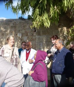 Outside the Acre walls - with Servas Israel Tour members.