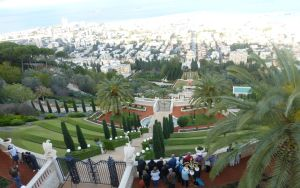 The beautiful grounds of the Baha'i Temple in Haifa.