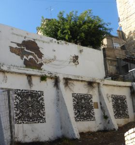 Art in the Wadi Nasui xxx neighborhood.