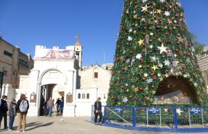 Nazareth Christmas Tree - outside the site of Mary's Well.