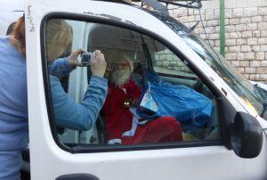 Svetlana A. xx found Santa hiding in a van.  :)