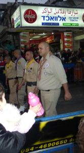 Christian Arab Scouts - march in the Christmas parade.
