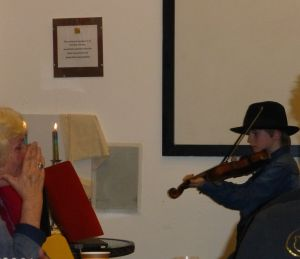 Stepan from the Czech Republic played his violin for us - wonderful!