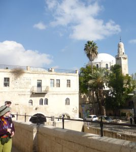 A synagogue on the left, a mosque on the right within the Old City Jerusalem walls.  Igor from Russia and Gelindaxxx from Germay xxx