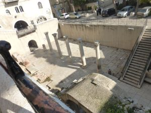 In some places within the walls, archeological digs reveal previous civilizations in the Old City Jerusalem