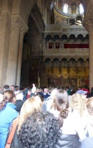 Entering the Church of the Holy Sepulchre