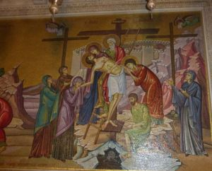 Painting within The Church of the Holy Sepulchre