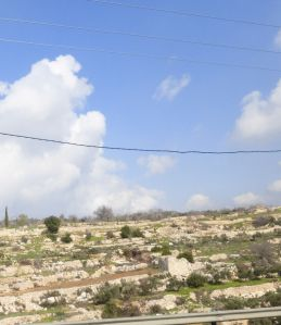 View from the bus into Palestinian Authority Territory