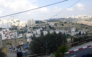 View from the bus - going into Bethlehem