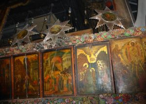 Paintings of the stations of the Cross xxx within the Church of the Nativity