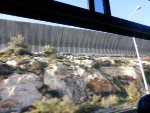 A wall along the Bethlehem/Jerusalem route