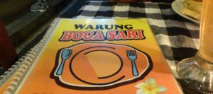At the end of Jalan Bisma - on the main road, you'll find the chef's place: Warung Boga Sari, a favorite