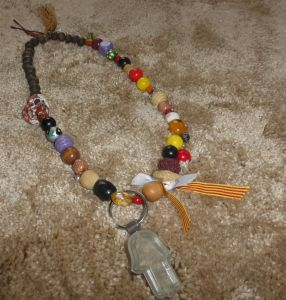 My Servas Israel Tour necklace linking beads from around the world