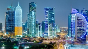 The futuristic city of Doha, Qatar
