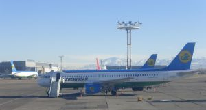 Ubekistan airplane