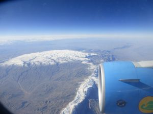 Then we flew low for hours and hours over mountainous mainly desolate brown land - Afghanistan perhaps xx ?