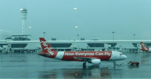 January 7, 2015 - in Denpasar xxx. Air Asia - a no frills plane - clean, but no food or other amenities