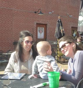 Niece Jennie, nephew Chris' wife Val, and our youngest family member - Cooper :)