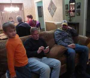 Kegan, brother Al, and nephew Jason - in the foreground
