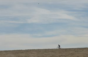 Lone biker - out on a spring run