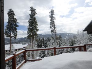From friends Fran and Roy's deck in Breckenridge, Colorado
