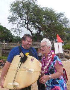 John back on shore - with Darlene