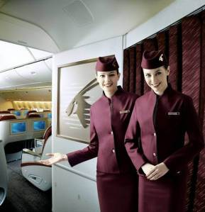 Qatar Airways cabin - comfortable