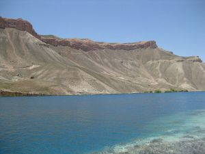 Cold, deep, brilliant blue Band-e-Amir lake