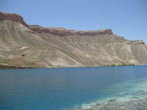 Cold, deep, brilliant blue Band-e-Amir lake