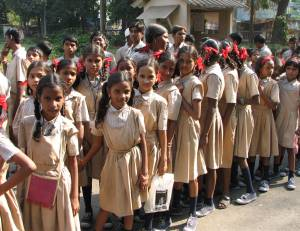 Indian school girls - the government mandates they must have education