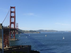 We walked across the Golden Gate Bridge on this lovely day