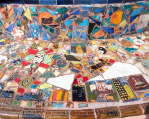 Admire the mosaics