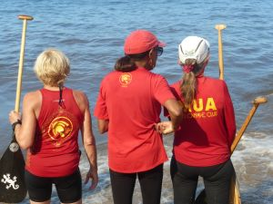 Paddling strategy - Sue, Audrey, and me