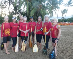 With my Kihei Canoe Club crew: me, Sandi, Joy, Diane, Audrey, Linda, Meryl, and Sue - my canoe sisters