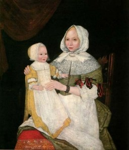 Mary Bliss Parsons with a baby