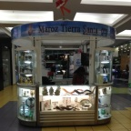 Even a kiosk of religious items from Israel - at Albrook Mall