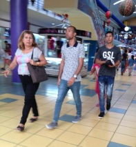 Albrook Mall shoppers
