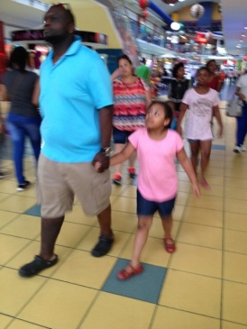 Panamanians in Albrook Mall