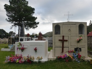 Near the top of one of the Boquete roads - a colorful cemetery