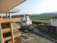 Ship from Taiwan carrying chemicals passing through the Miraflores Locks