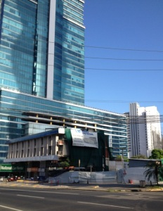 Modern buildings and new construction in Panamá City